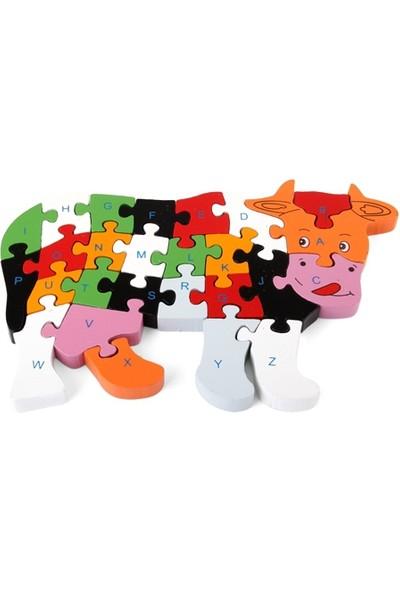 Wildlebend Ahşap Puzzle İnek Figürlü Yapboz