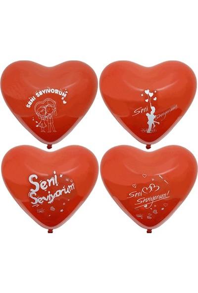 Wildlebend Seni Seviyorum Yazılı 10lu Kalp Balon