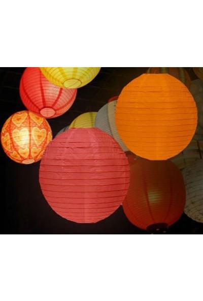 Wildlebend Dekoratif Çin Feneri – Kağıt Lamba - Kırmızı
