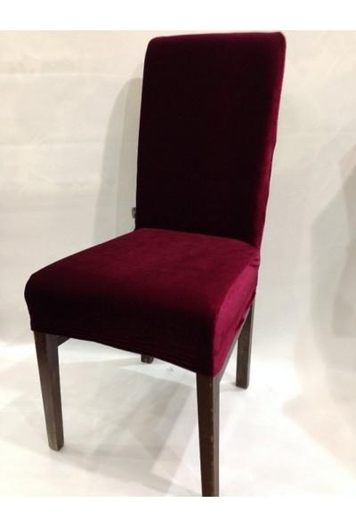 Sandalye Kılıfı - Dalgıç Kumaş - Likralı - Bordo