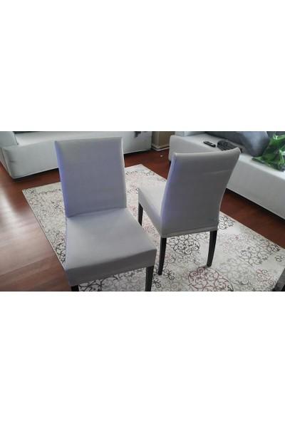 Sandalye Kılıfı - Dalgıç Kumaş - Likralı - Beyaz 6 Adet