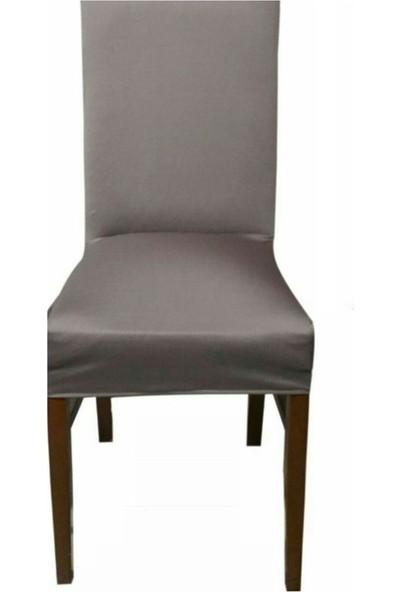 Sandalye Kılıfı - Dalgıç Kumaş - Likralı - Vizon