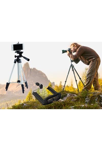 Wildlebend Tripod : Telefon ve Kamera Tutucu Ayak + Telefon Tutucu - Büyük Boy