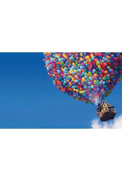 Wildlebend Sarı Lacivert Baskılı Balon 50 Adet