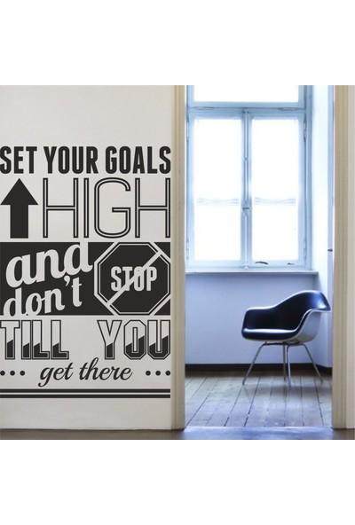 Hepsi Duvar Set Your Goals Duvar Sticker