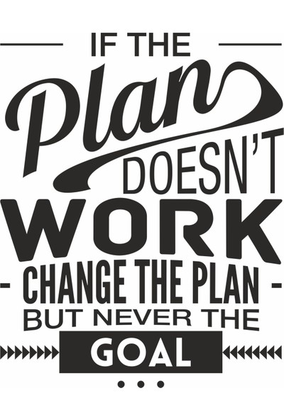 Hepsi Duvar If The Plan Doesn'T Work Duvar Sticker