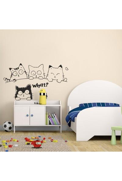 Hepsi Duvar Puzzled Cats Duvar Sticker