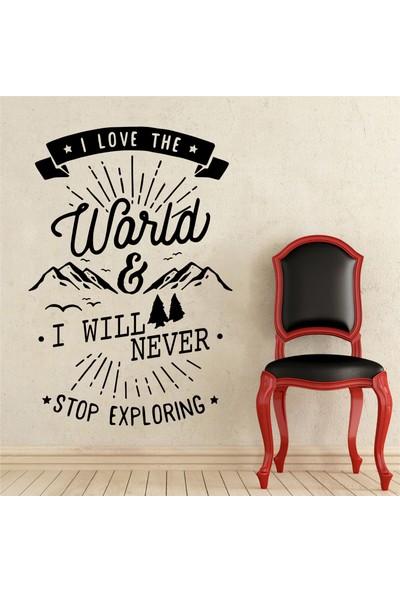 Hepsi Duvar I Love The World Duvar Sticker