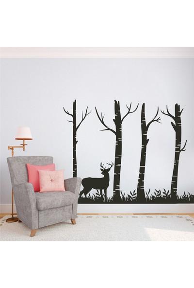 Hepsi Duvar Deer And Forest Duvar Sticker