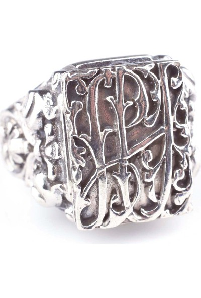 Nusret Takı 925 Ayar Gümüş Antik Tasarım Erkek Yüzük