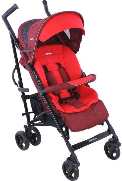 Kraft London Plus Bebek Arabası Kırmızı