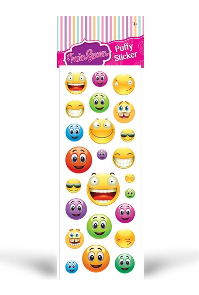 Gülen Yüz Puffy Sticker 6,5X17 Cm
