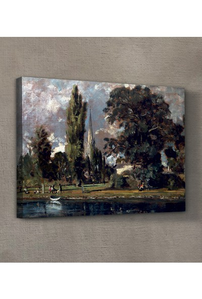 John Constable - Salisbury Cathedral and Leadenhall From the River Avon