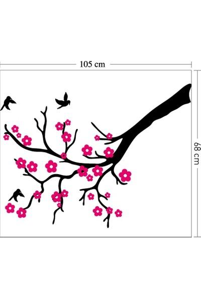 Kiraz Dalı Kadife Duvar Sticker 105X68 Cm