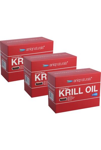 Aniqnaturals Superba boost Krill Oil Yağı 60 Licaps 3 KUTU