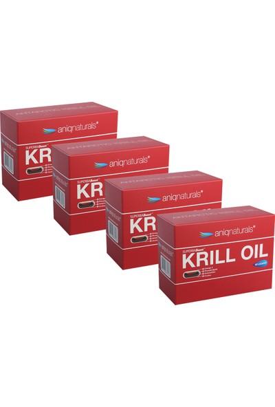 Aniqnaturals Superba boost Krill Oil Yağı 60 Licaps 4 KUTU