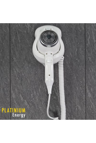 Etap Platinum Compact Energy Duvara Monte Otel Tipi Saç Kurutma Makinesi