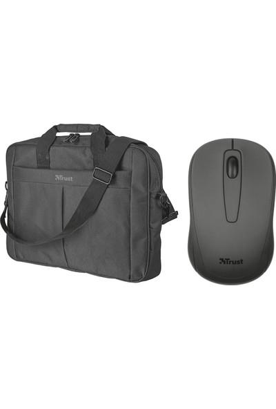 "Trust Ziva Kablosuz Mouse 21509 + Trust Primo 16"" Notebook Çantası 21551"