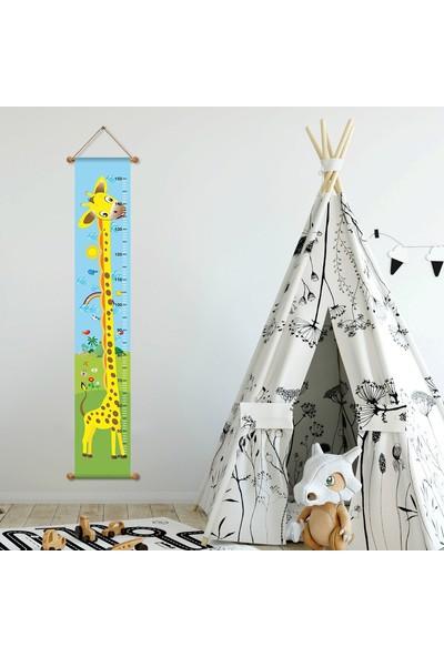 DekorLoft Asılabilir Zürafa Boy Ölçer Büyüme Tablosu