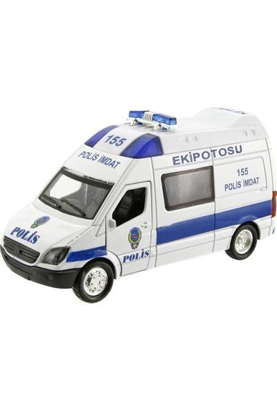 Işıklı Metal Çekbırak Polis Ekip Otosu