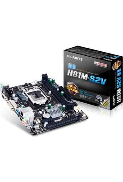 Gigabyte H81M-S2V /Ddr3 1600Mhz S+V+Gl+16X 1150P