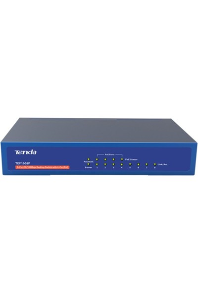 Tenda Tef1008P 8Port 10/100 4Xpoe 58W Switch