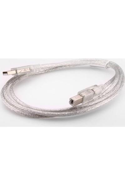 S-Link Sl-U2015 Usb 2.0 1.5Mt Şeffaf Yazıcı Kablo