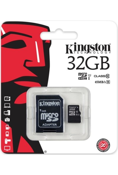 Kingston 32 Gb Micro Sd Class 10 Cl10 Sdc10G2/32Gb