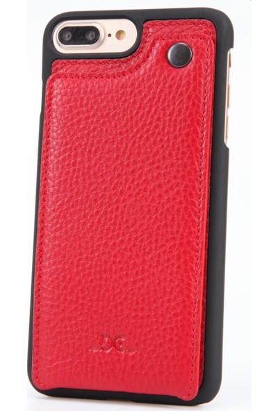 DC Apple iPhone 7 Plus Krispy Deri Cüzdan Arka Kapak Kartlıklı