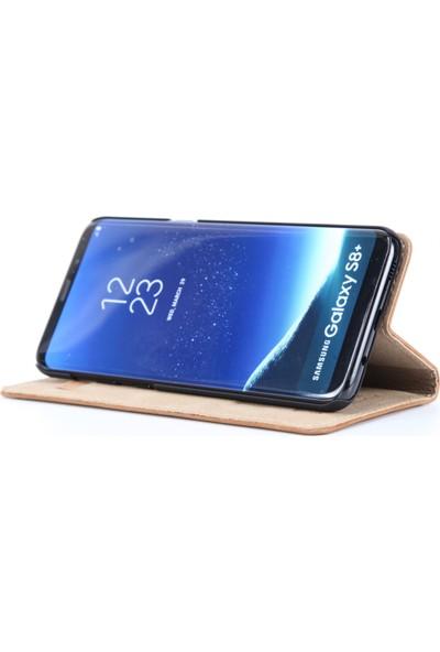 DC Samsung Galaxy S8+ Plus Luca Magnet Eskitme Deri Mıknatıslı Kartlıklı Stand Kılıf