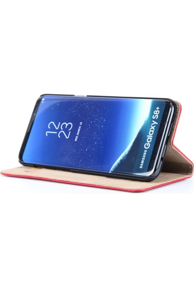 DC Samsung Galaxy S8+ Plus Luca Magnet Deri Mıknatıslı Kartlıklı Stand Kılıf