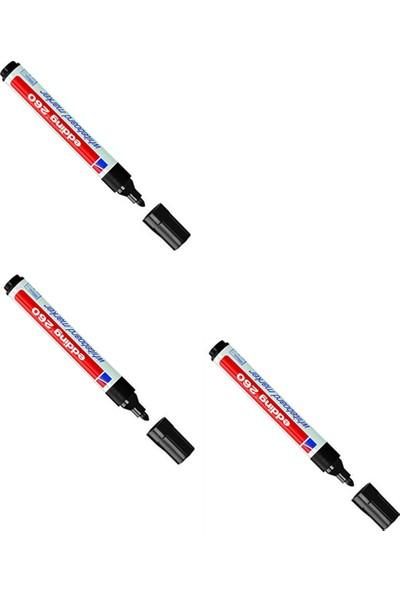 Edding (E-260) Beyaz Tahta Kalemi Siyah 10 Lu