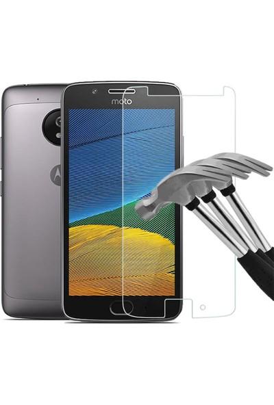 Microcase Motorola Moto G5 Tempered Glass Cam Ekran Koruma
