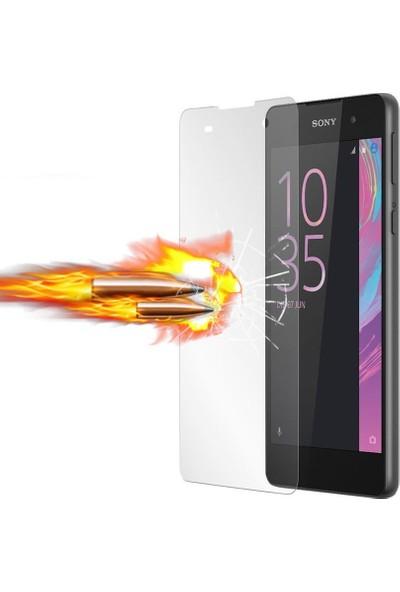Microcase Sony Xperia E5 Ultra İnce Silikon Kılıf+Tempered Glass