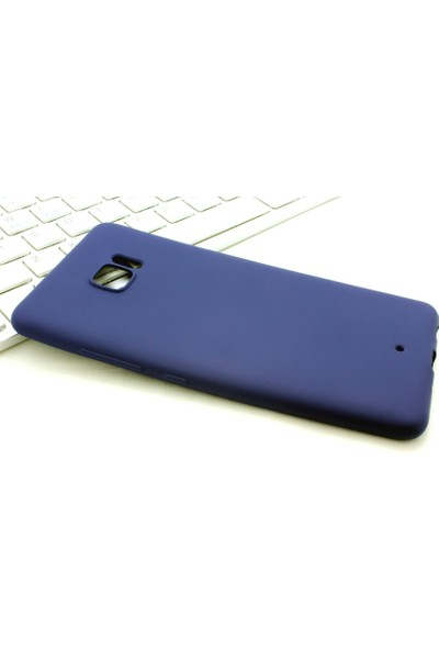 Microcase Htc U Play Premium Mat Silikon Kılıf+Tempered Cam