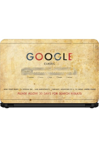 Ejoya 15.6 Inc Notebook Sticker Klasik Google Arama Motoru