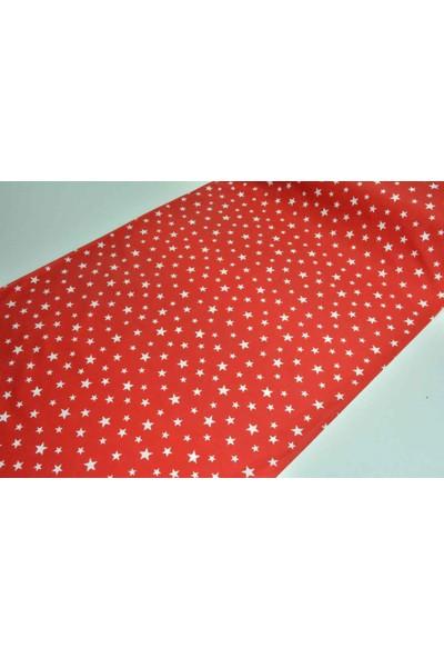 Wella Home Yıldız Kırmızı Poplin Kumaş