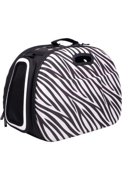 Ibiyaya Kedi Köpek Taşıma Çantası Safari Zebra