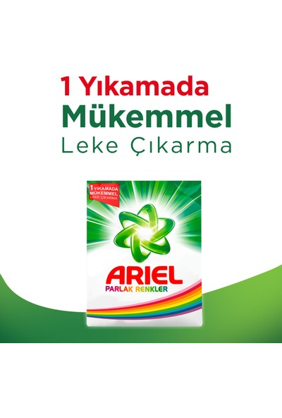 Ariel Toz Çamaşır Deterjanı Ekstra Ferah 4.5 kg + Parlak Renkler 4.5 kg