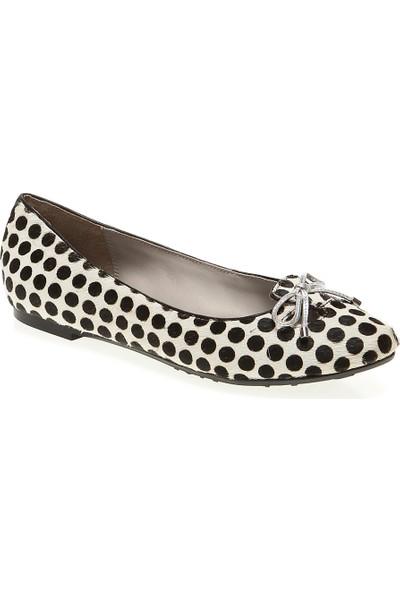 Pretty Nana Cavallino Poi 500230 Kadın Ayakkabı Black Whıte