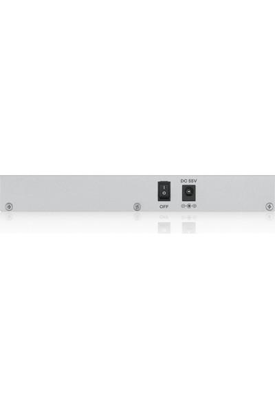 Zyxel GS1200-5HP 5-Port POE 10/100/1000Mbps Tak-Kullan QoS 60W Toplam Güç Destekli Web-Yönetilebilir Güçten Tasarruflu Gigabit Switch