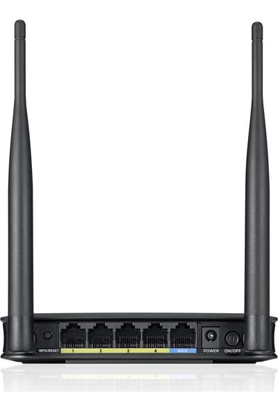 Zyxel NBG418N v2 300Mbps Kablosuz 5-Port 2x5dBi Değiştirilebilir Antenli EWAN Evrensel Access Point/Router/Universal Repeater/Client