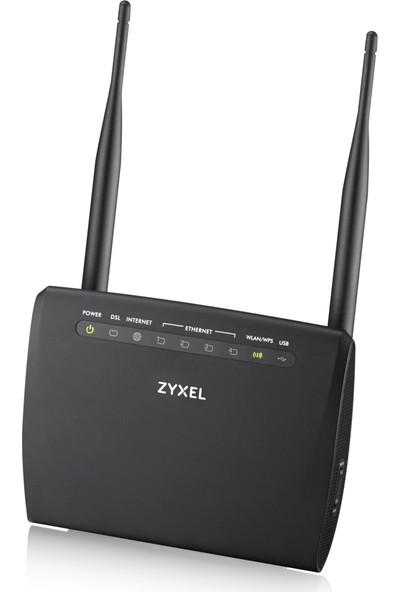 Zyxel VMG1312-B10D 300Mbps Kablosuz 4-Port 2x5dBi 1xUSB WPS Fiber Destekli VDSL2/ADSL2+ Modem/Router