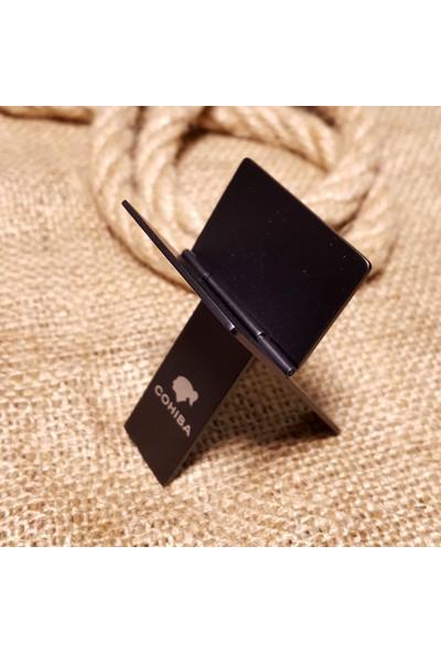 Cohiba Siyah Katlanır Çelik Puro Standı , Stant Hu86