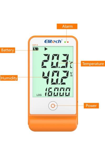 Elitech Sıcaklık Ve Nem Kayıt Cihazı Datalogger Gsp-6 Thr236