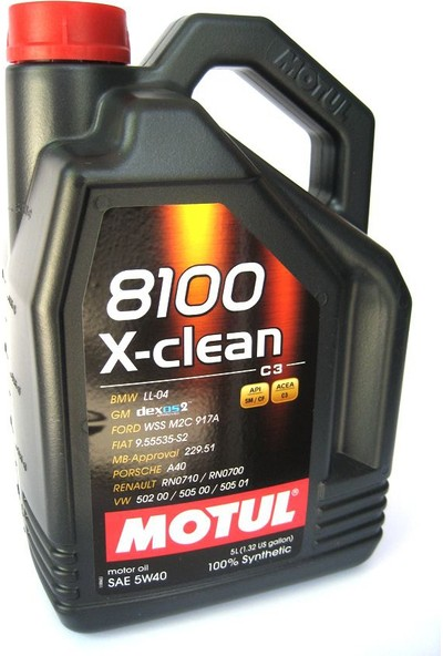 Motul 8100 X-clean 5W-40 - 5 Lt