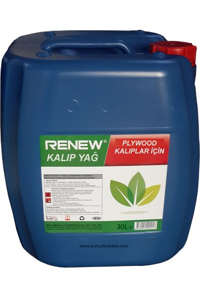 Renew Kalıp Yağı - 30 L Plywood Kalıplar İçin