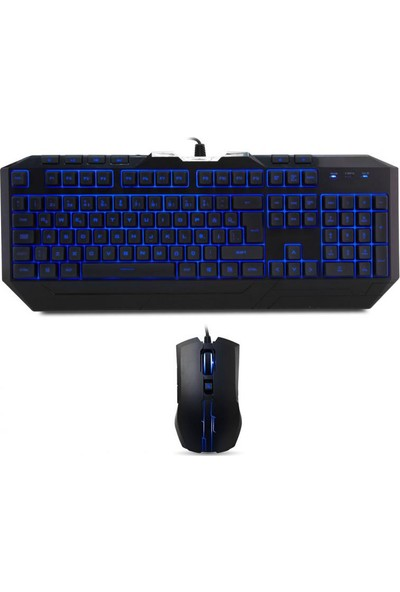 Cooler Master Devastator II Mavi LED Türkçe Klavye + Mouse Seti SGB-3030-KKMF1-TU