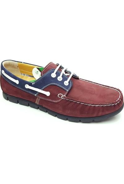 Çetintaş Hakiki Deri Ayakkabı Bordo 4154