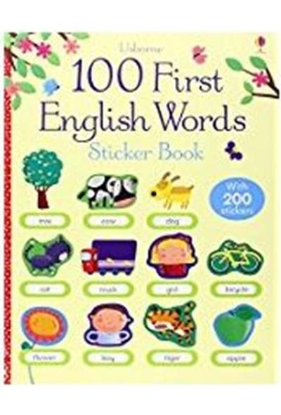 100 First English Words Sticker Book - Felicity Brooks